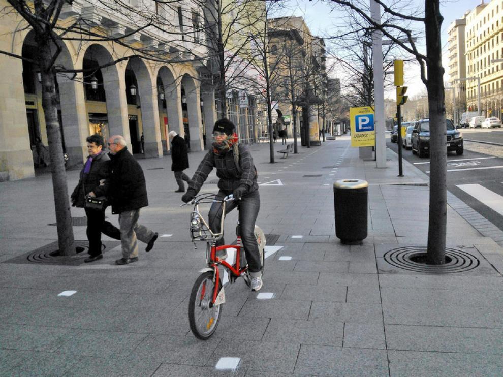 Carril bici en Independencia
