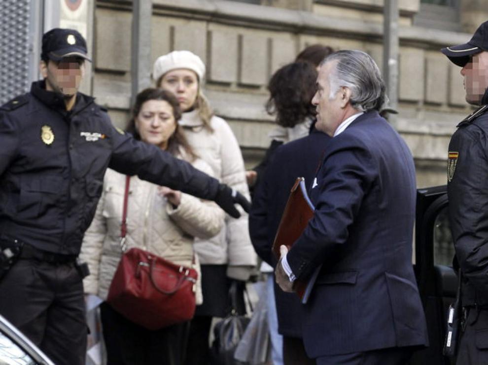 Luis Bárcenas, a su llegada a la Audiencia Nacional