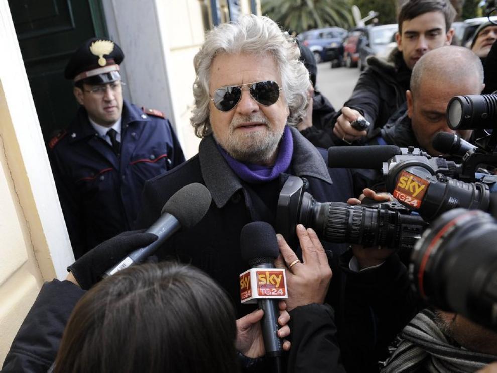 El cómico y bloguero italiano, Beppe Grillo