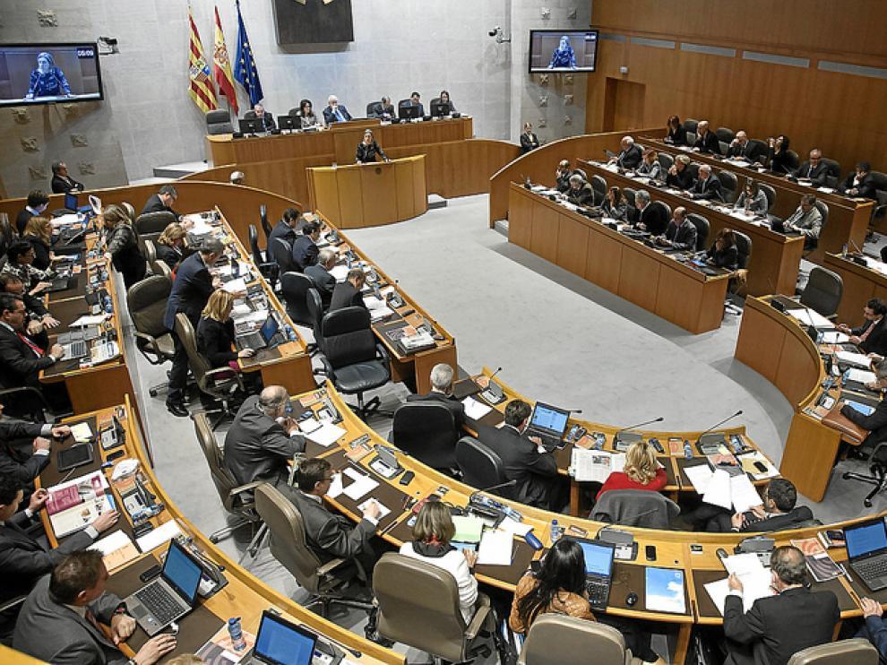 Sesión plenaria de las Cortes
