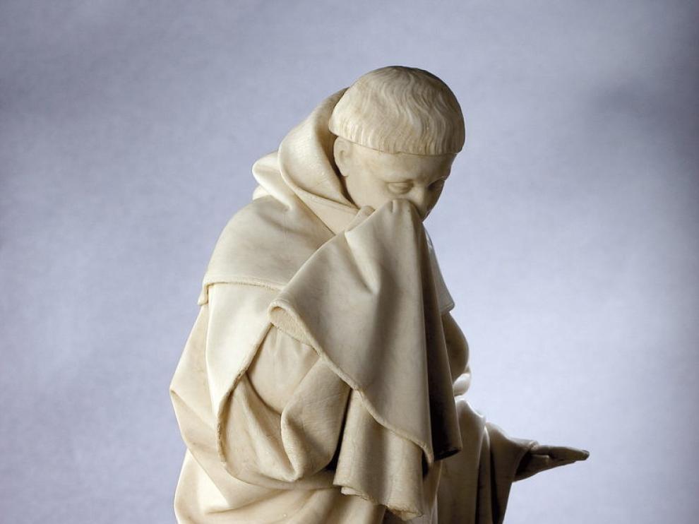 Una de las esculturas de Juan de la Huerta