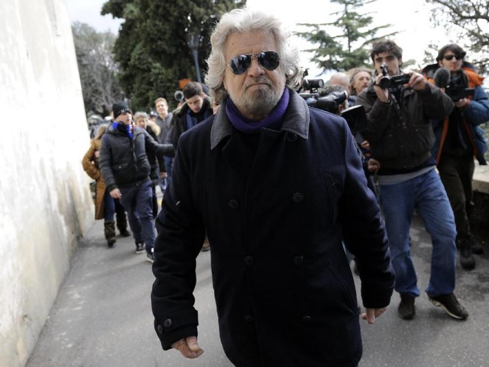 """El líder de la llamada """"antipolítica"""", Beppe Grillo."""