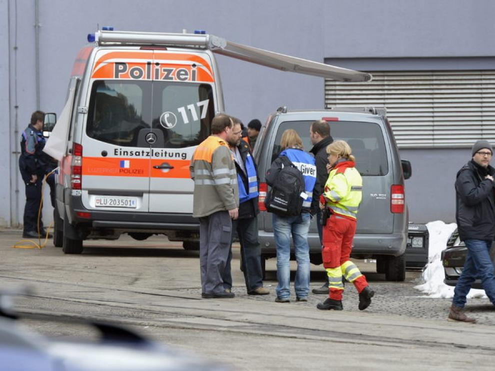 Empresa maderera en Menznau, Suiza, donde ocurrió el tiroteo