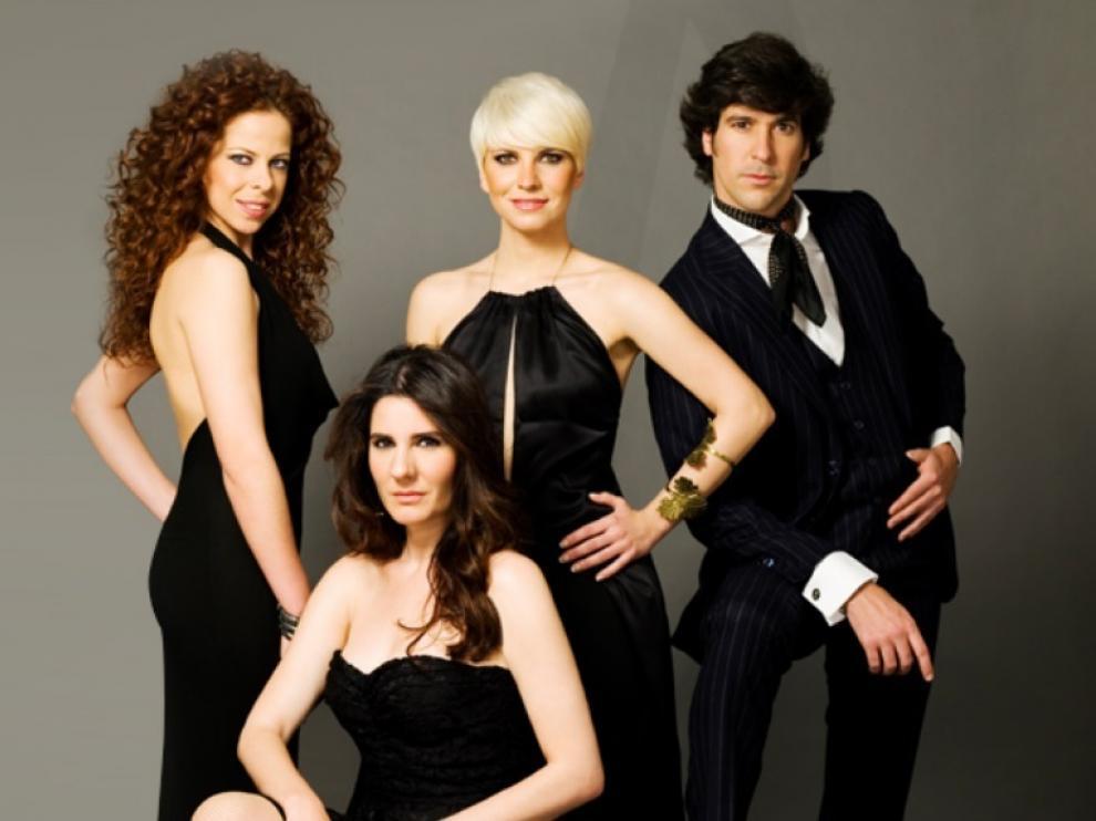 Pastora Soler, Pasión Vega, Diana Navarro y Manuel Lombo, protagonistas del musical.