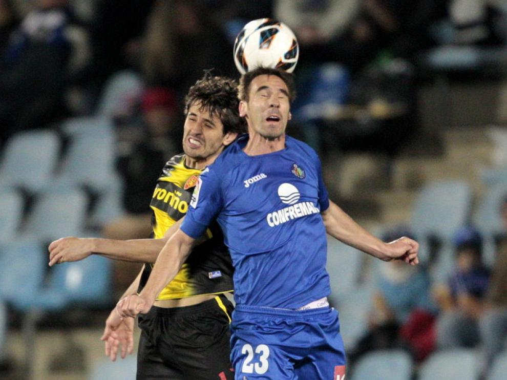 Stefan Babovic durante el Getafe-Real Zaragoza