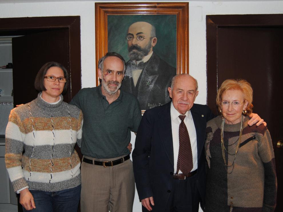Eunice, Lorenzo, Antonio y Pilarín