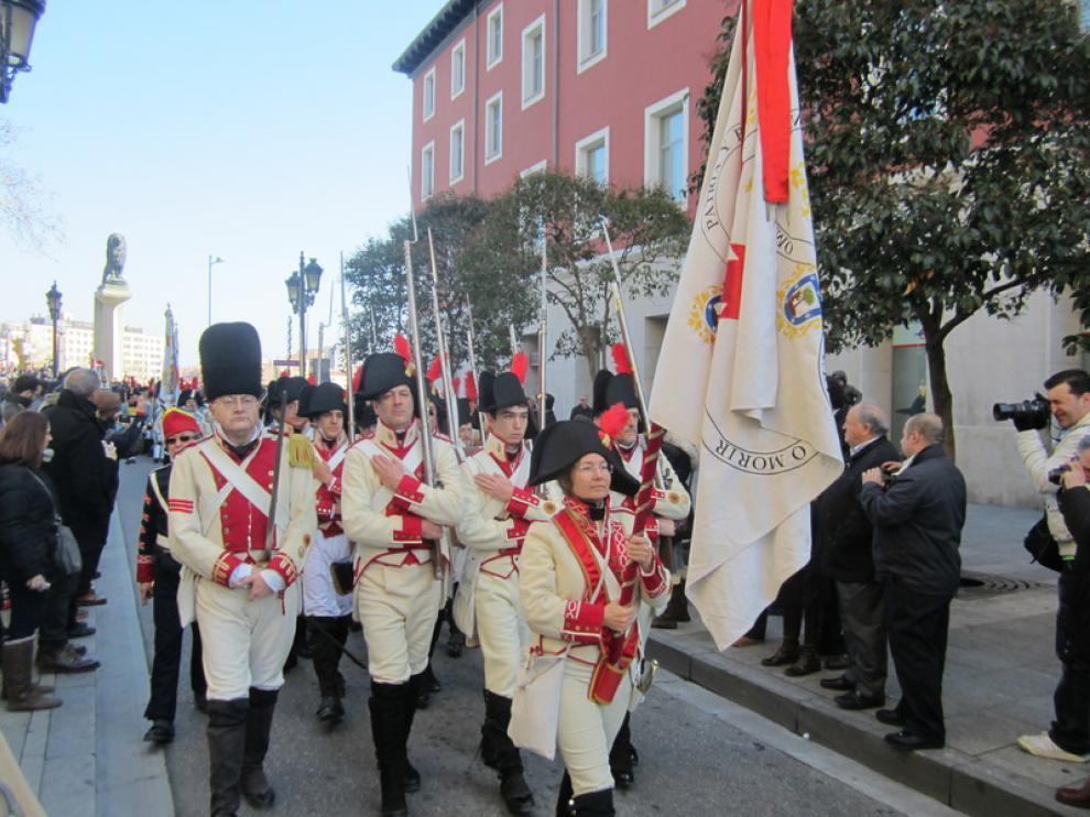 Más de 400 voluntarios participan en la escenificación de la ocupación francesa el los asedios que sufrió Zaragoza durante la Guerra de la Independencia