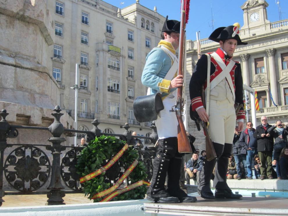 Homenaje a los caídos en los Sitios, este sábado en la plaza de España