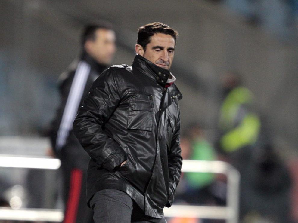 Manolo Jiménez, durante el partido contra el Getafe