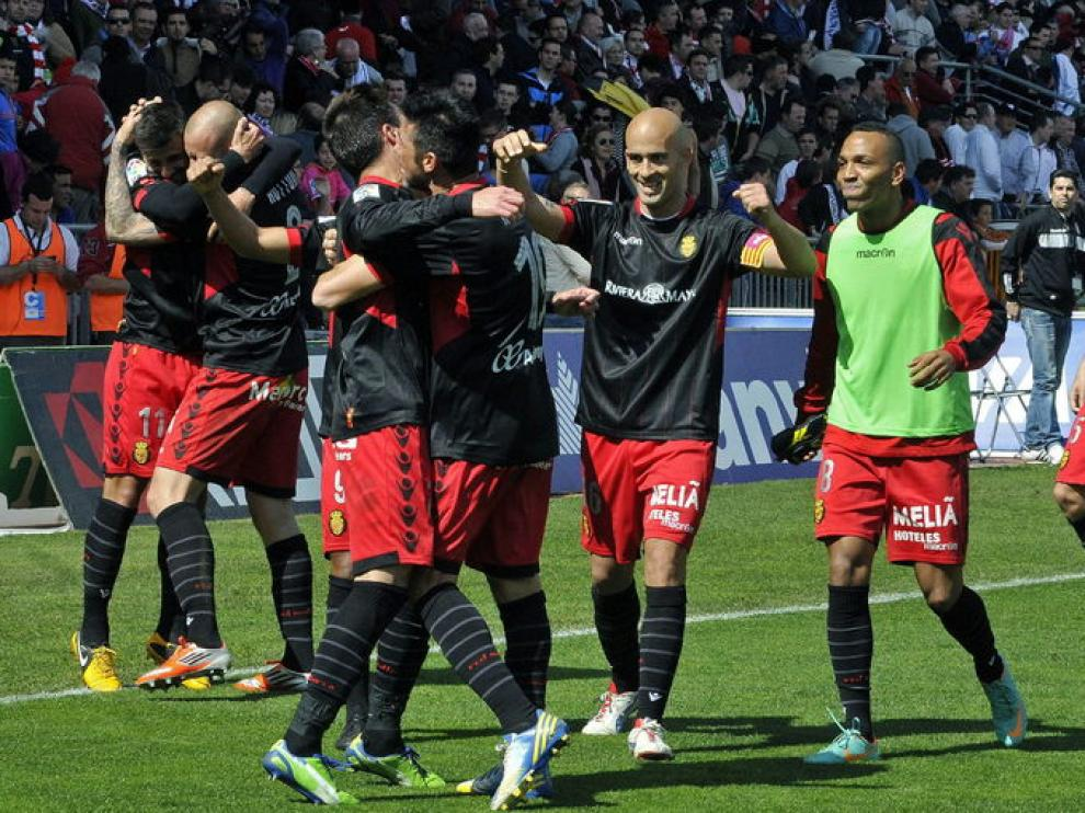 Los jugadores del Mallorca celebran la victoria