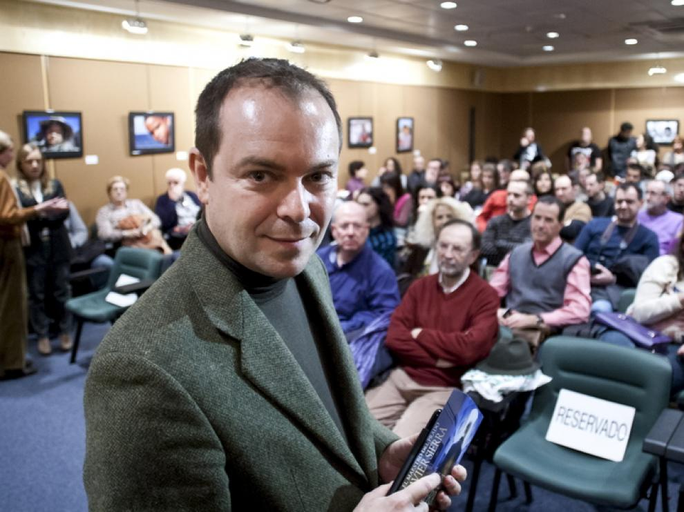 Javier Sierra, durante la presentación de su libro en El Corte Inglés