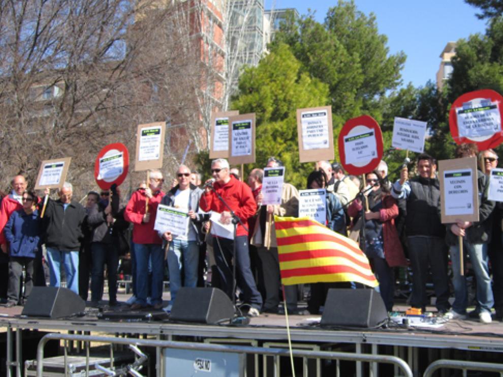 Imagen de la I Marcha de Barrios de Zaragoza