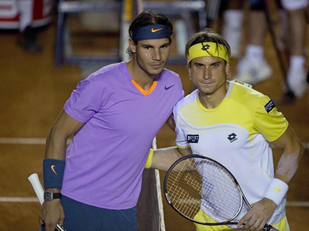 Los tenistas Rafa Nadal y David ferrer