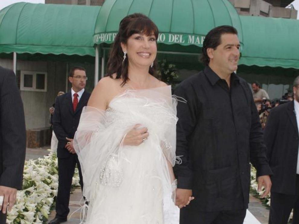 José Campos junto a su ya expareja