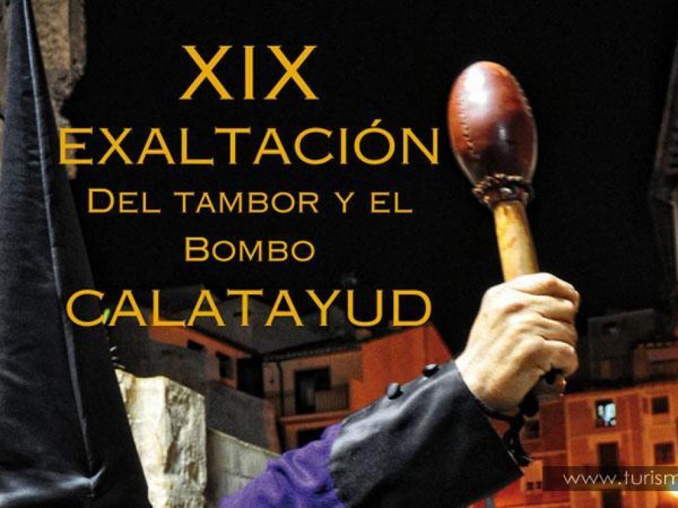 Cartel de la XX Edición de la Exaltación del tambor y el bombo de Calatayud
