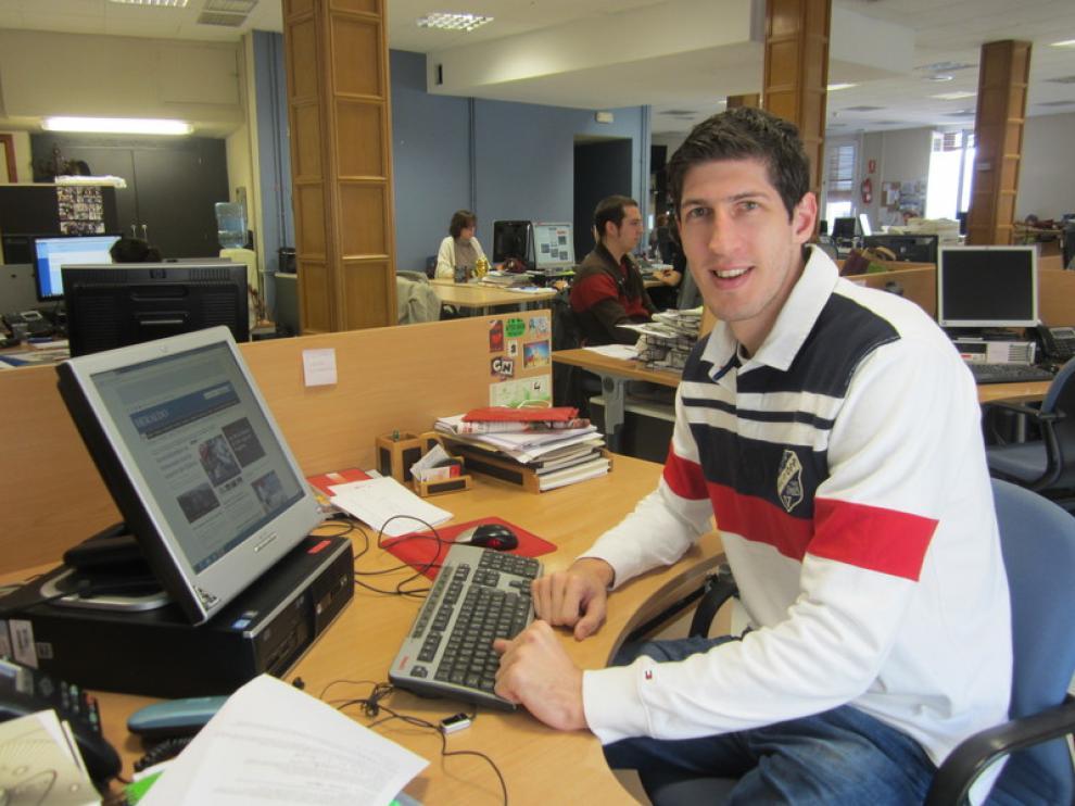 Damjan Rudez, en la redacción de Heraldo.es