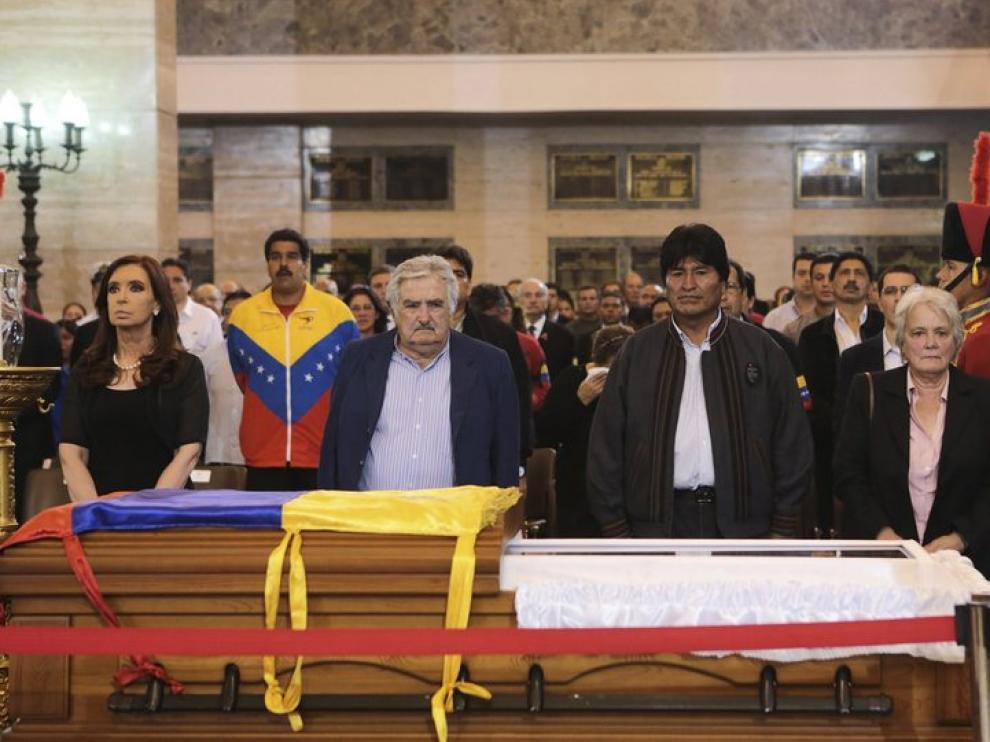Cristina Fernández, José Mujica y Evo Morales, presidentes de Argentina, Uruguay y Bolivia