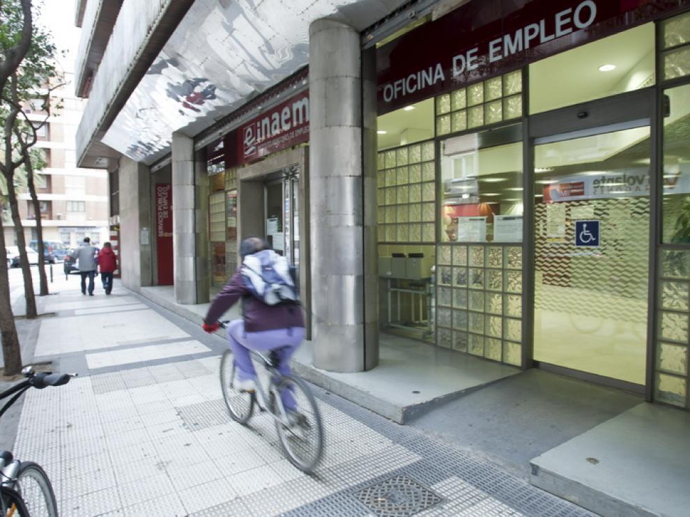 Una oficina del Inaem, en Zaragoza