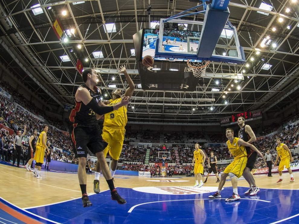 Imagen del partido que ha enfrentado al CAI Zaragoza con el Gran Canaria
