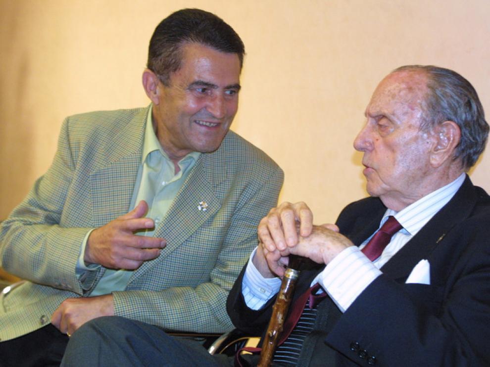 Emilio Eiroa y Manuel Fraga en Jaca