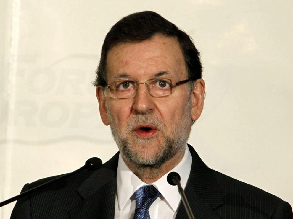 Rajoy durante el desayuno