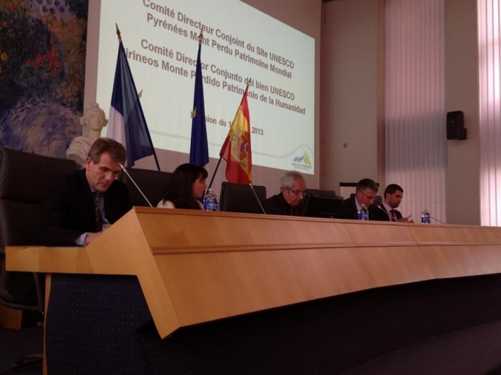 Un momento de la reunión del Comité de Pirineos-Monte Perdido