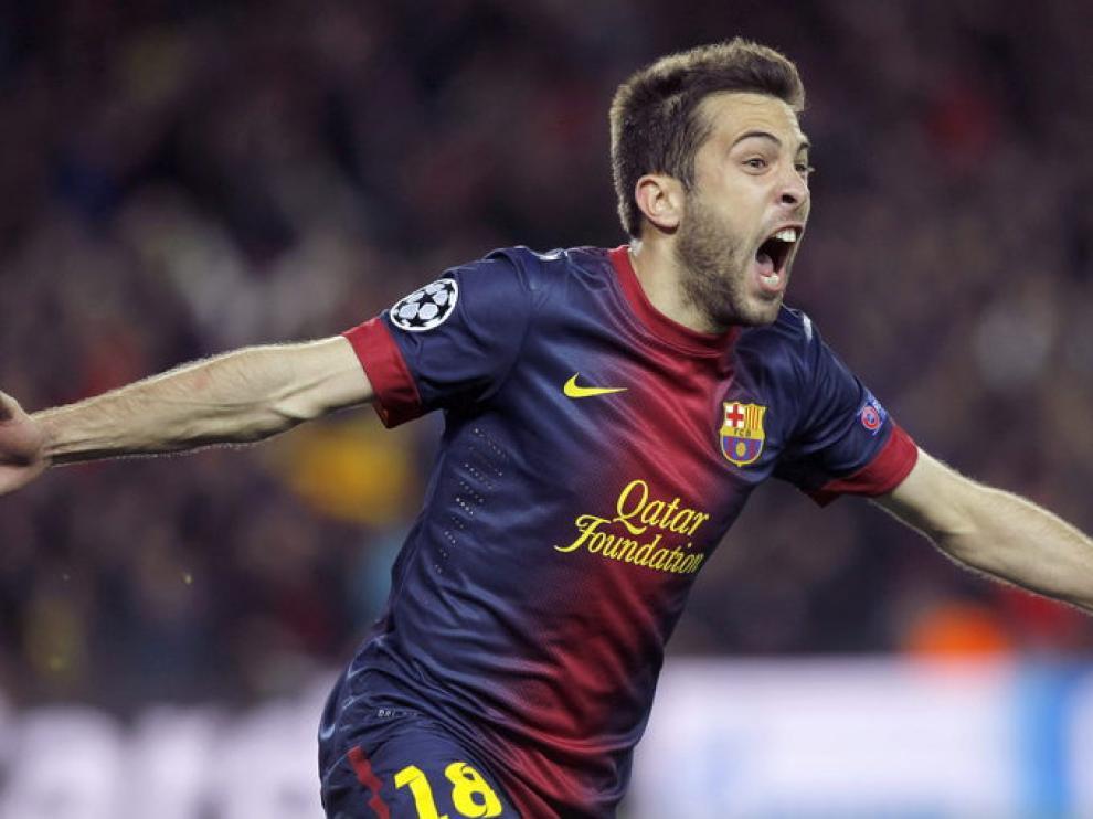 Jordi Alba sentenció el partido poniendo el 4-0 en el marcador