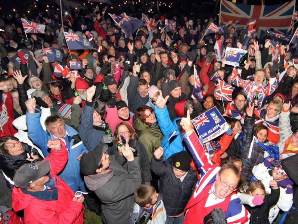 Celebración en Malvinas