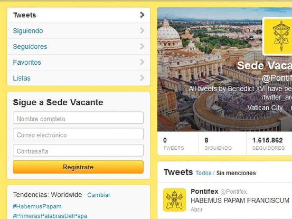 Primer mensaje en la red social tras la elección del Papa