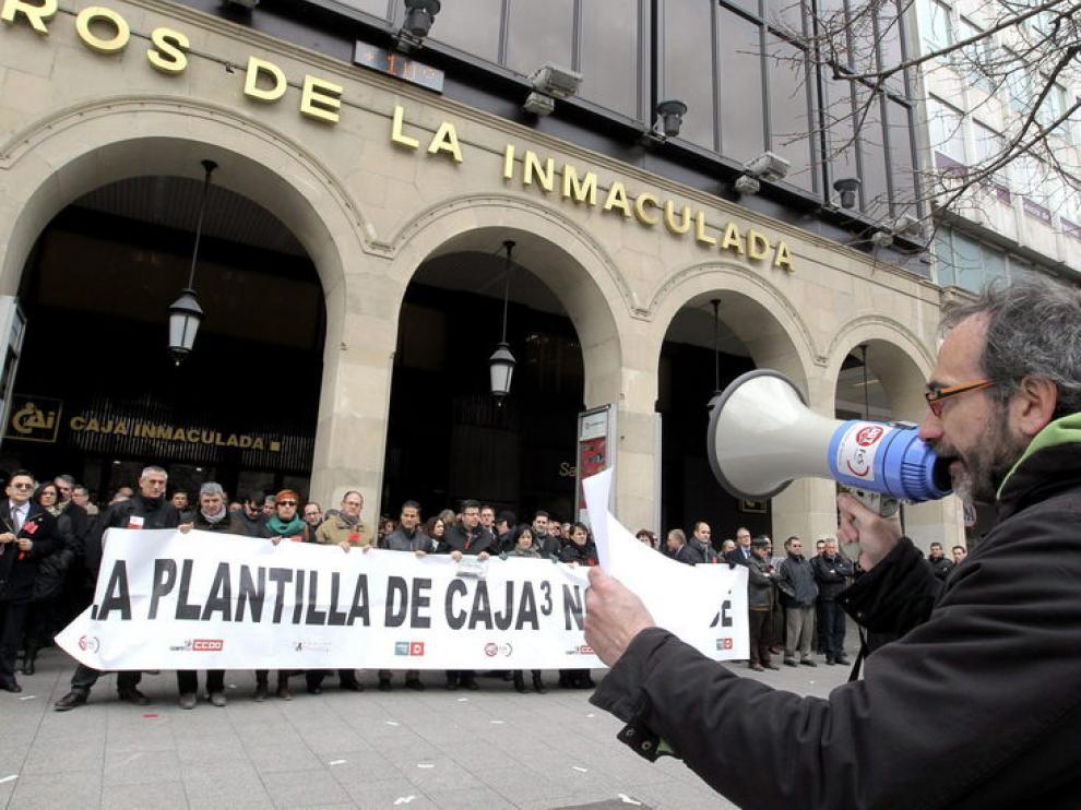 Protestas de empleados de Caja3
