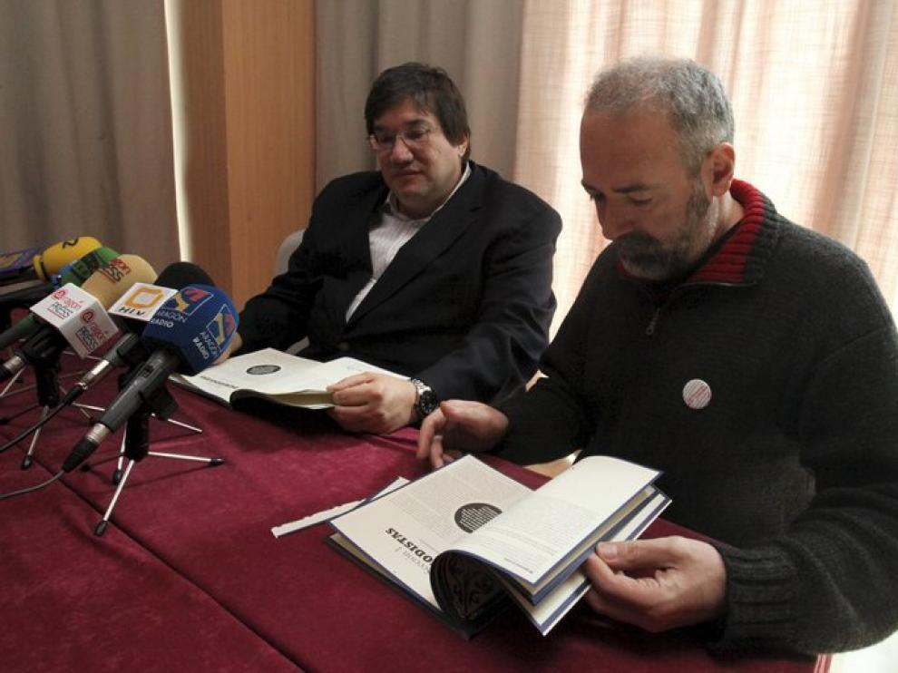 Dos de los ponentes de este año, Javier Abelló y José Cervera, en un workshop el miércoles