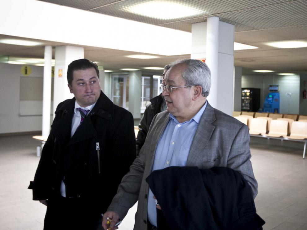 José Marco, en los juzgados de Zaragoza.