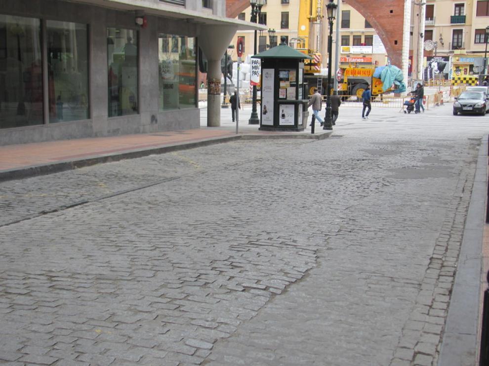 Pavimiento de la calle de Predicadores de Zaragoza