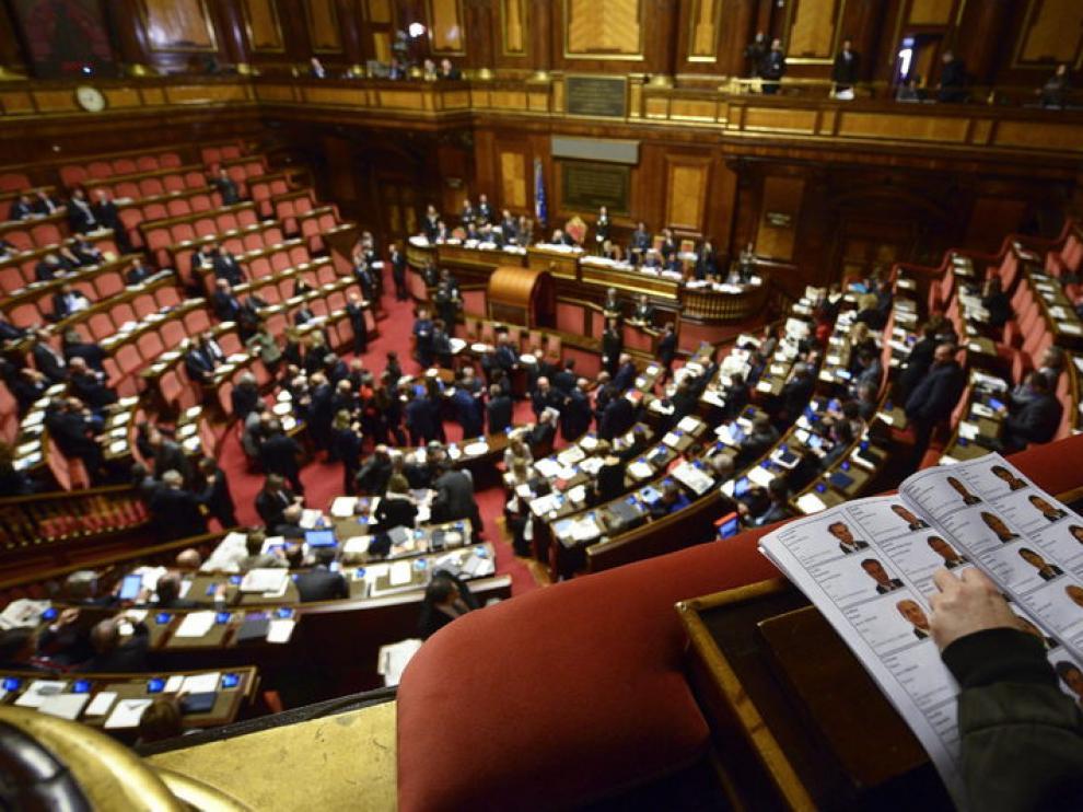 Primera sesión de la nueva legislatura en el Senado italiano