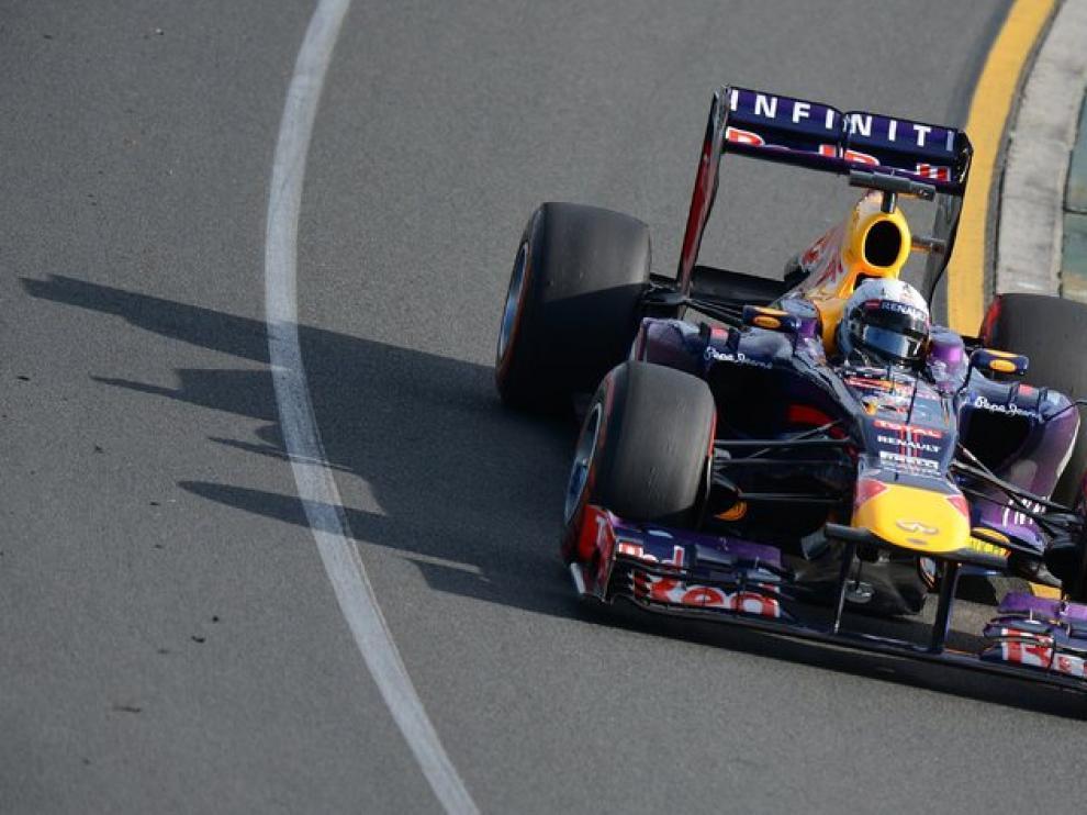 Vettel durante la segunda sesión libre para el Gran Premio de Australia.