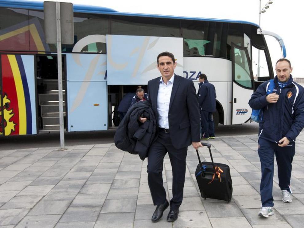 El entrenador del Real Zaragoza, Manolo Jiménez