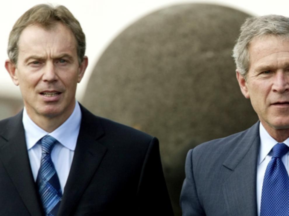 Blair, Bush y Aznar, en las Azores