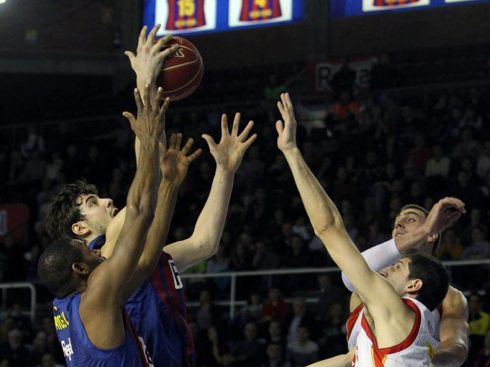 Una imagen del Barcelona - Cai Zaragoza