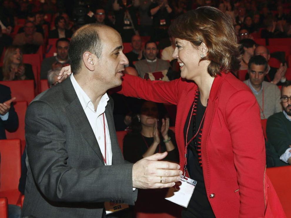 Barcina saluda a Catalán, el otro candidato