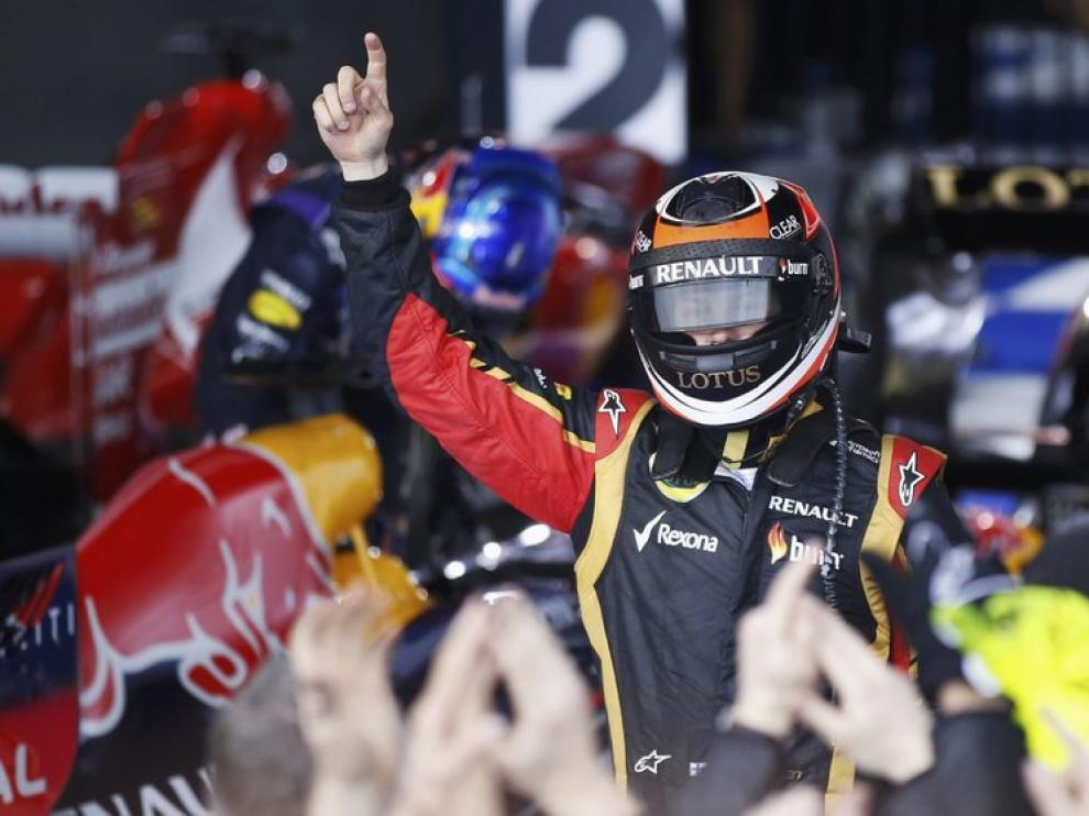 Raikkonen celebra el triunfo