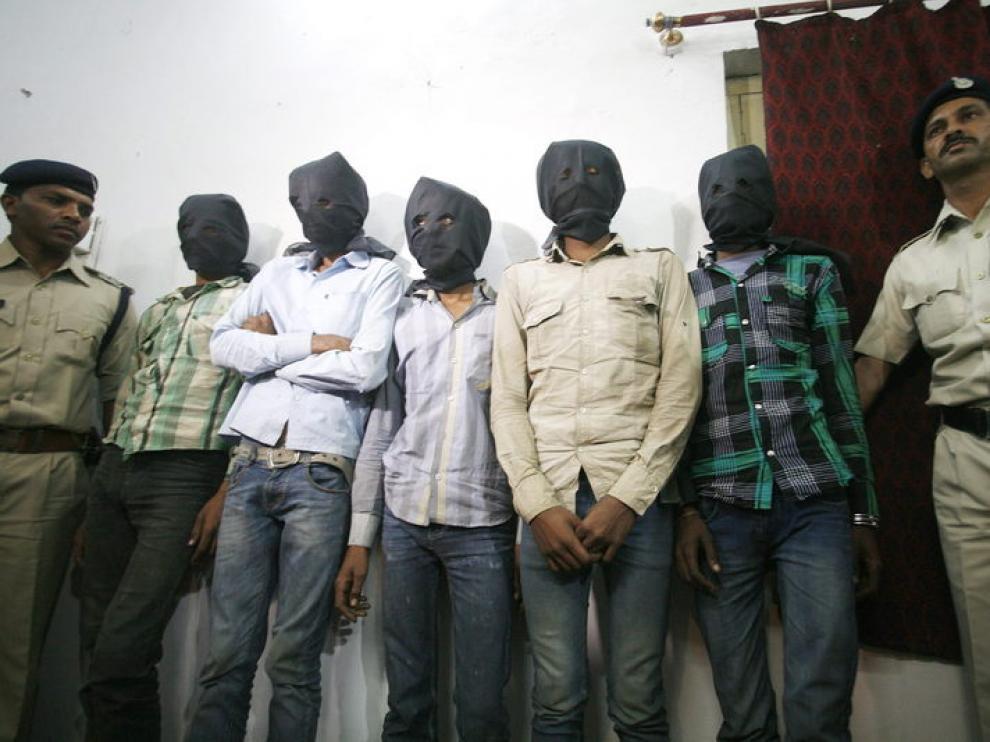 Los seis detenidos esta semana en India tras violar a una turista suiza