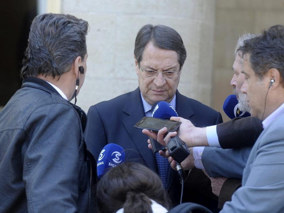 El presidente chipriota, Nicos Anastasiades