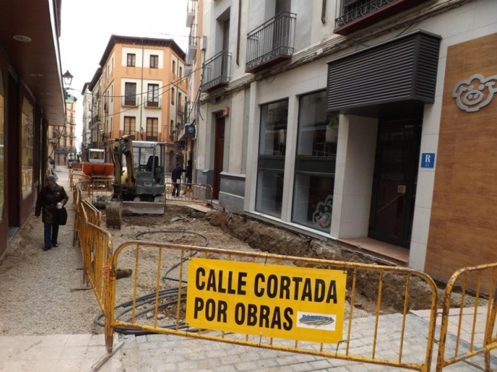 Foto del estado de las obras en Huesca
