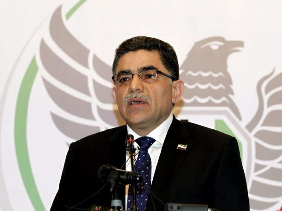 Gasan Hito, en una rueda de prensa en Estambul.