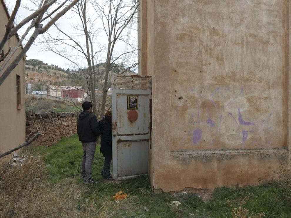 Caseta donde vivía el fallecido en Teruel