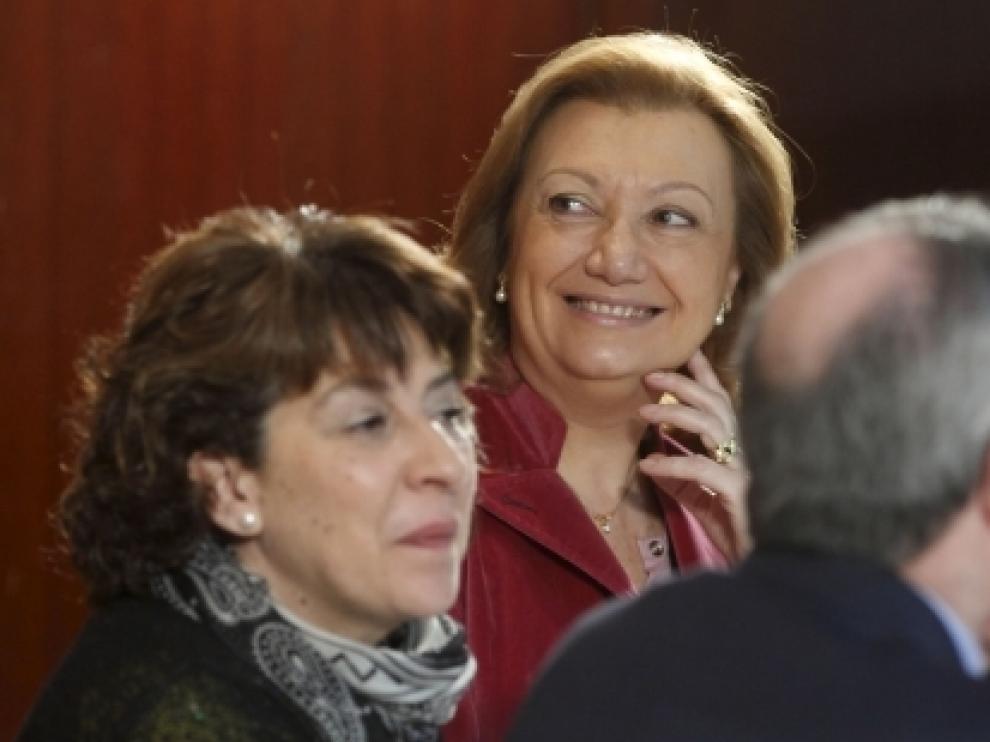 Luisa Fernanda Rudi, en el desayuno coloquio.