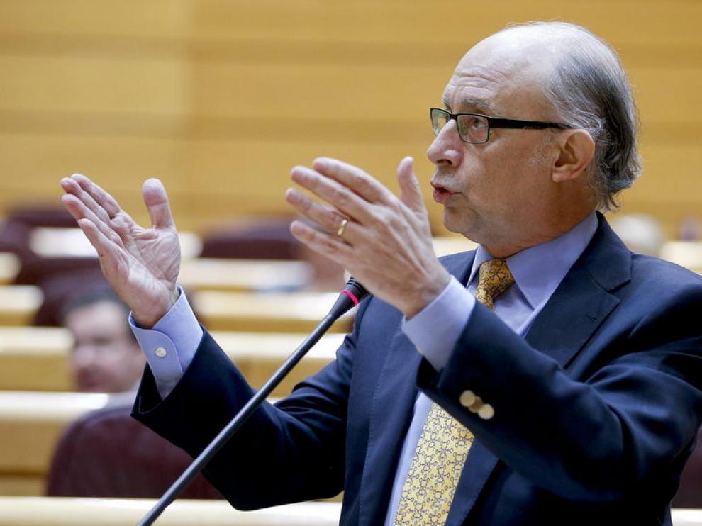 El ministro de Hacienda Cristóbal Montoro, este miércoles