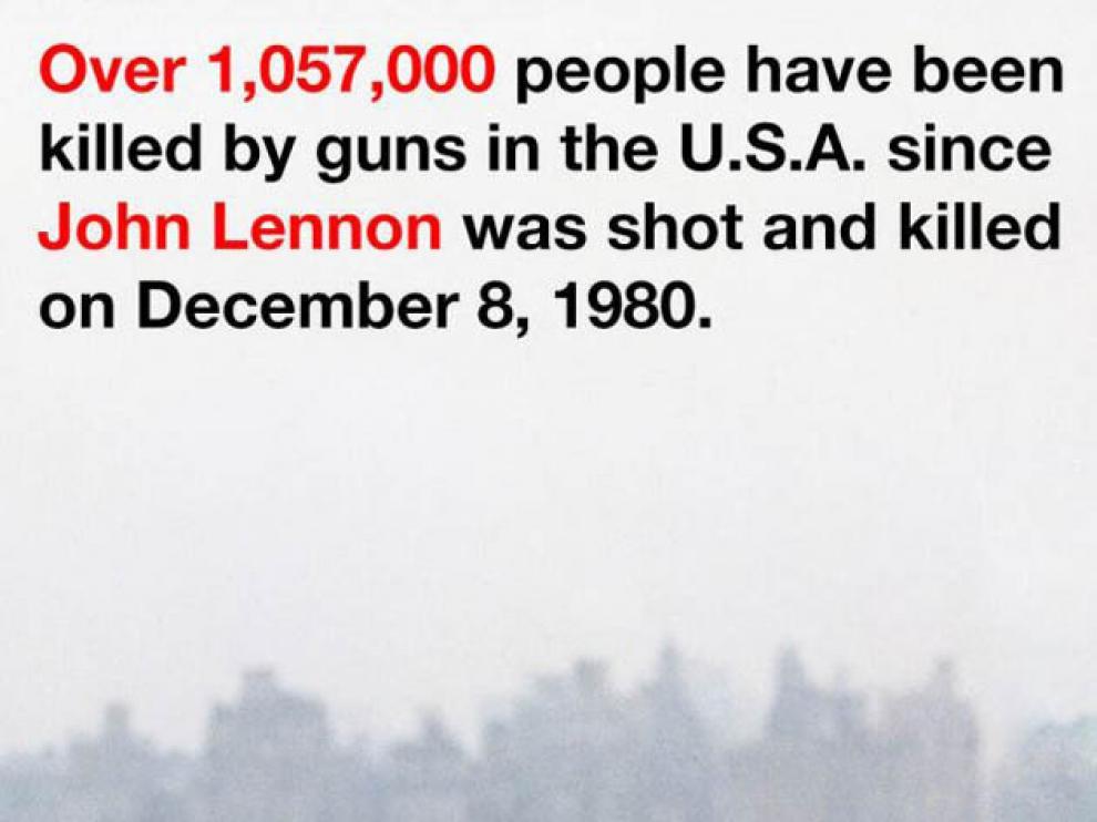 Ono en Twitter protesta contra las armas de fuego