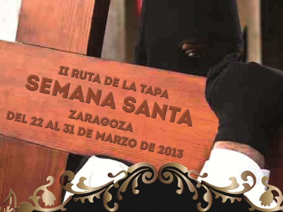 Cartel promocional de la Ruta de Tapas de la Semana Santa de Zaragoza