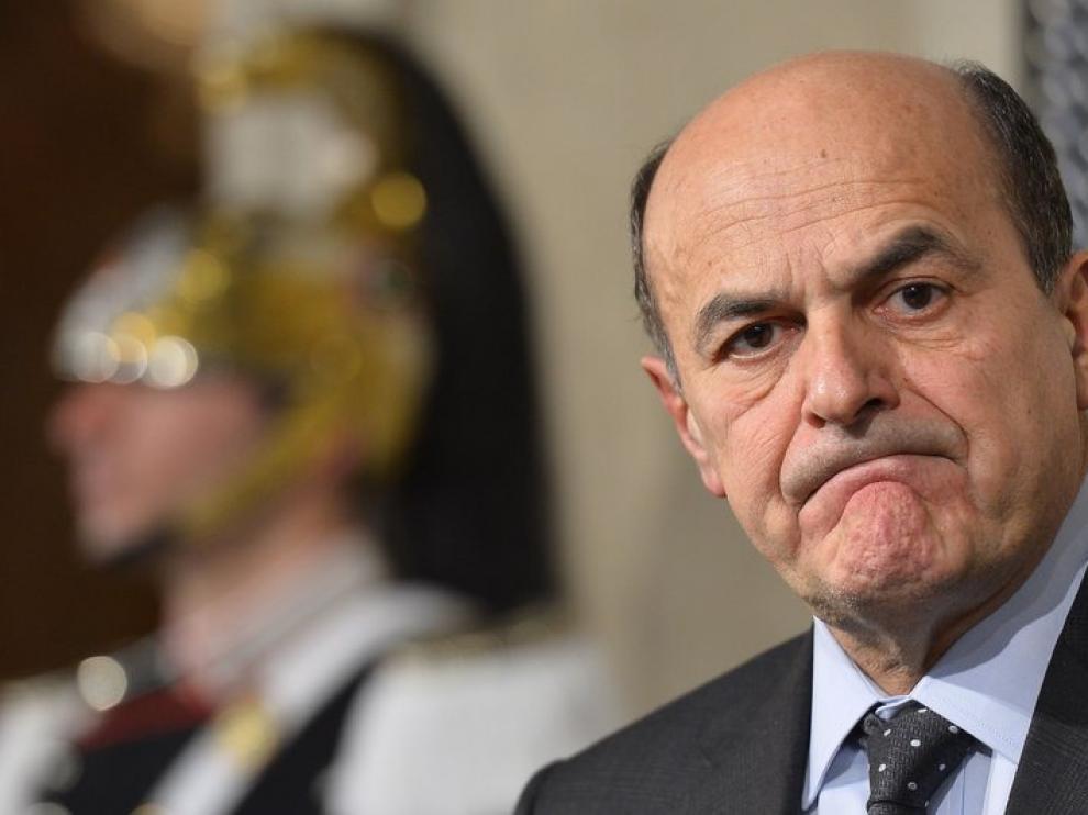 Bersani en rueda de prensa (Archivo)